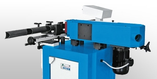 Pipe notching machines for tube ends and longitudinal grooving